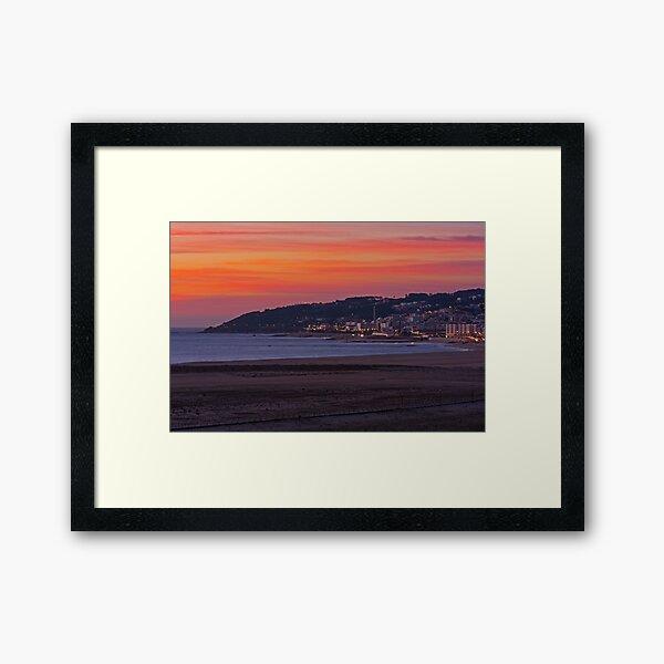 Sunset in Figueira da Foz Portugal Framed Art Print