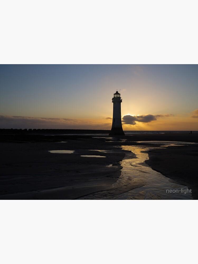 New Brighton Lighthouse Sunset Silhouette by neon-light