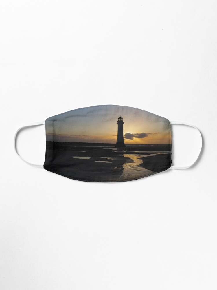 Alternate view of New Brighton Lighthouse Sunset Silhouette Mask