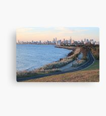 Elwood to the city, Melbourne VIC Canvas Print