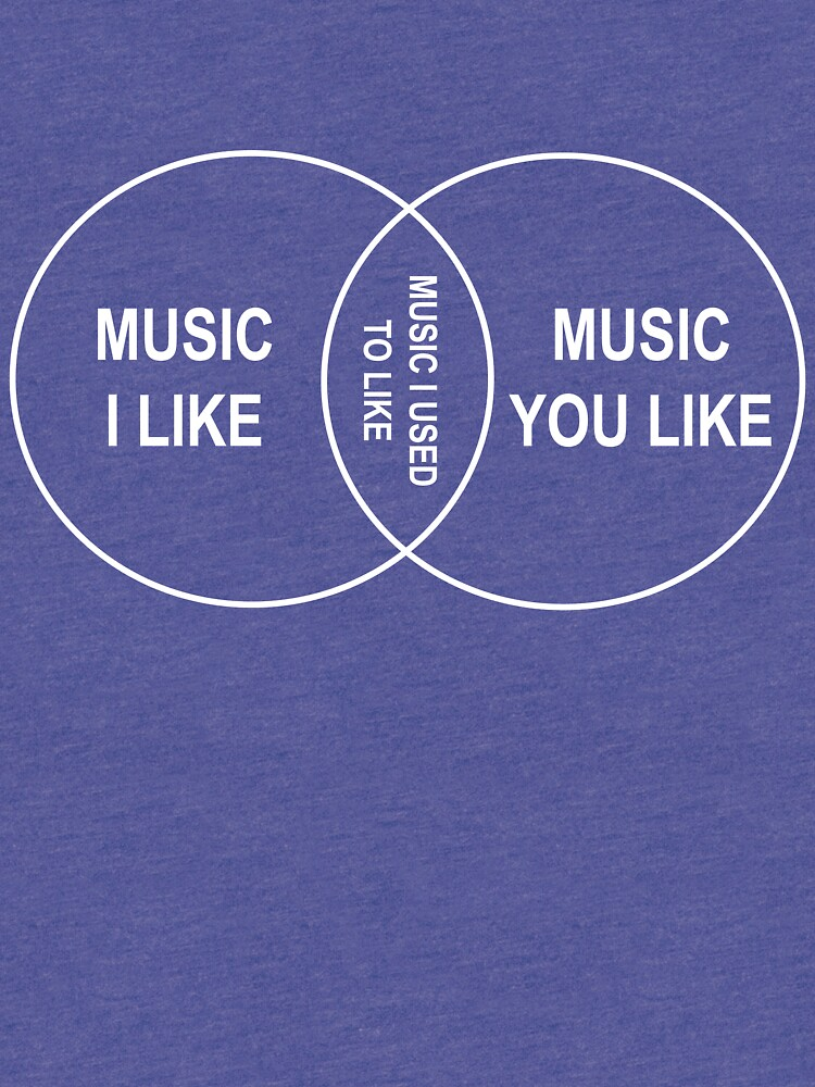 Music You Like Music I Like Music I Used To Like Venn Diagram Tri