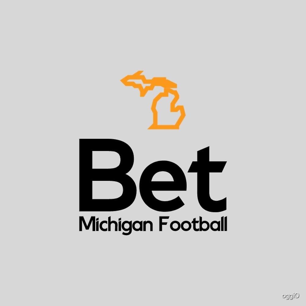 Bet Michigan Football Logo: Legal Sports Betting Michigan by oggi0