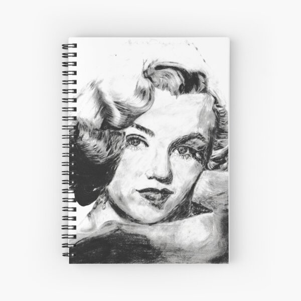 Black and White Marilyn Monroe Drawing Spiral Notebook