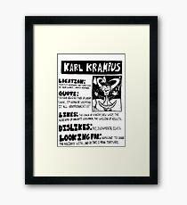 Krampus Needs Love Framed Print