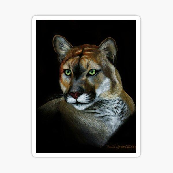 Florida Panther Portrait Sticker