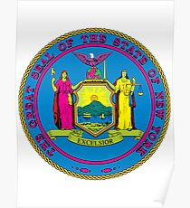 Alien Invasion New York | State Seal | SteezeFactory.com Poster