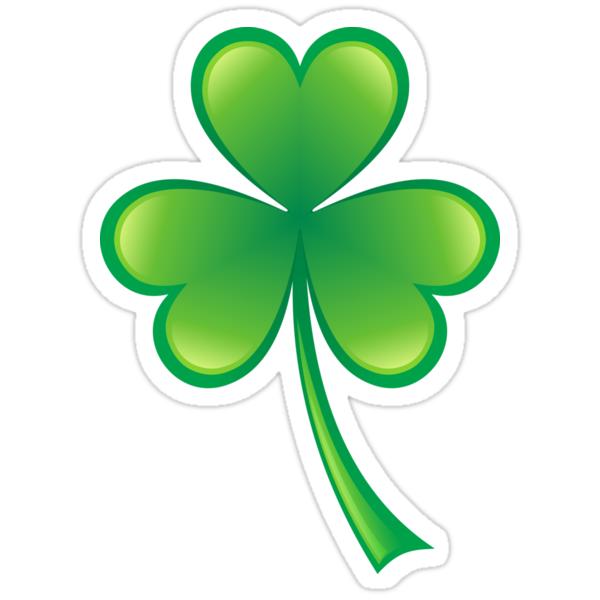"""Shamrock three leaf clover sticker"" Stickers by Mhea ..."