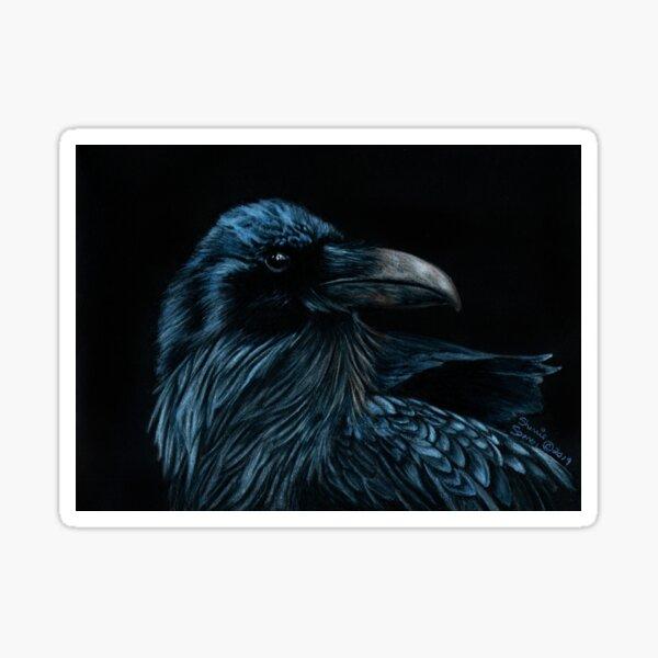 The Raven Portrait Sticker