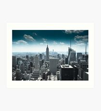 Empire state building and its surrounds, Manhatten, NYC 2012 Art Print