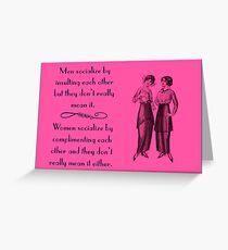Socializing Greeting Card