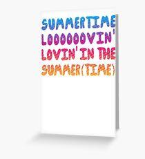 Summertime Lovin' Greeting Card