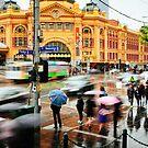 Flinders St, 5pm by jamjarphotos