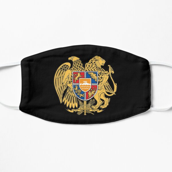 Armenian Flag Gifts, Stickers and Products (N) Flat Mask