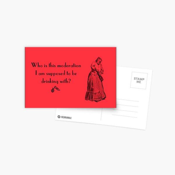 Funny vintage card Postcard