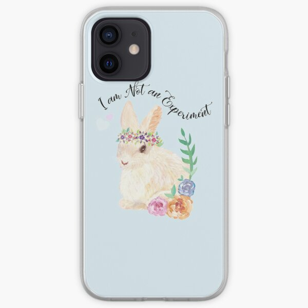 I am Not an Experiment   Bunny Animal Testing iPhone Soft Case