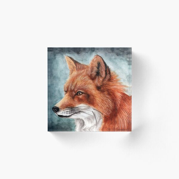 The Red Fox Port Acrylic Block