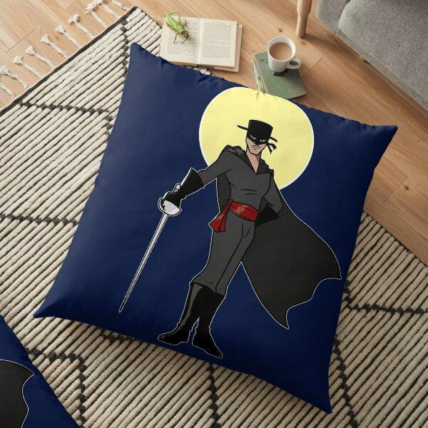 Zorro Beneath a Yellow Moon Floor Pillow