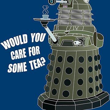 Dalek Cuppa (Colored) by metallikunt