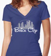 'The Magic of Newark' Women's Fitted V-Neck T-Shirt