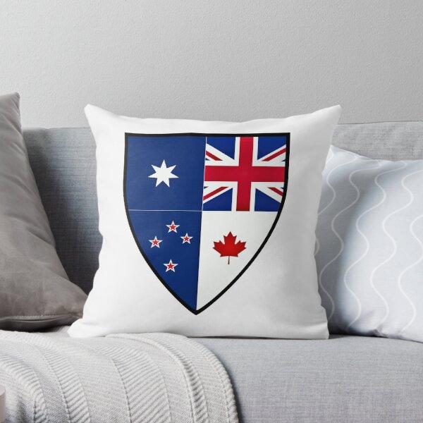 CANZUK Shield Throw Pillow