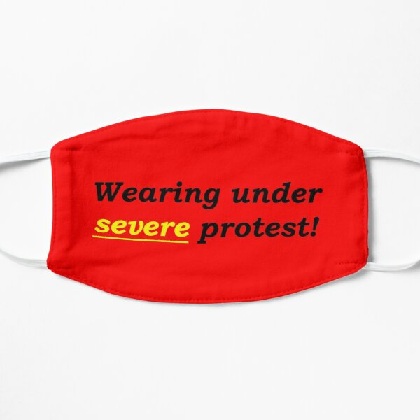 Red Wearing this under severe protest Mask
