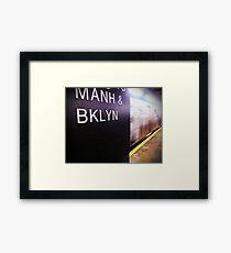 Manhattan and Brooklyn Framed Print