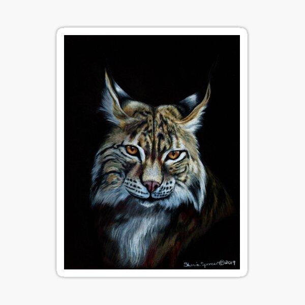 Bobcat Portrait Sticker