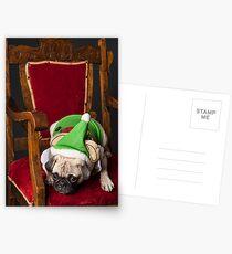 Pug Christmas Card Postkarten