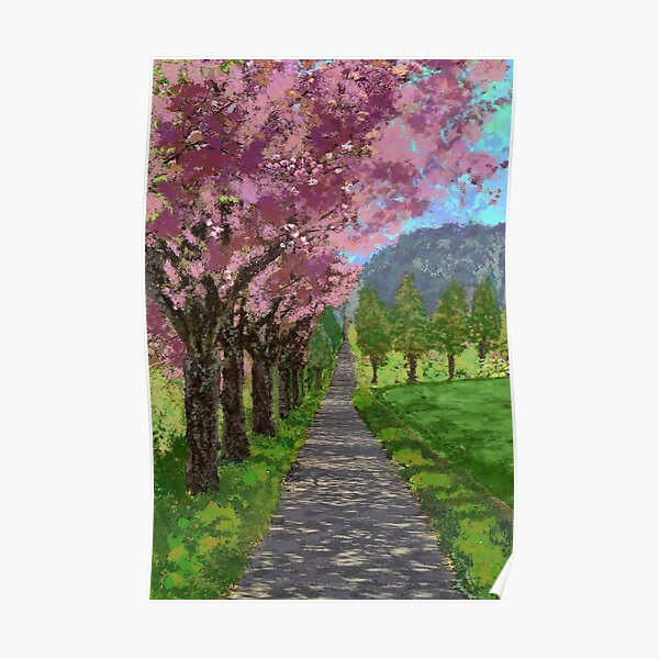 Beautiful Path - Image to Complete the Floor Plan or Widen a Hallway Poster