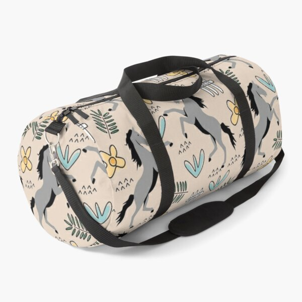 Horses Floral patterns  Duffle Bag