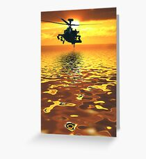 Apache AH-1  Attack Helicopter Greeting Card