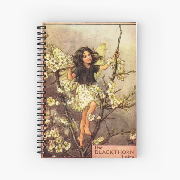 """""""The Blackthorn Fairy"""" by Cicely Mary Barker  Spiral Notebook"""