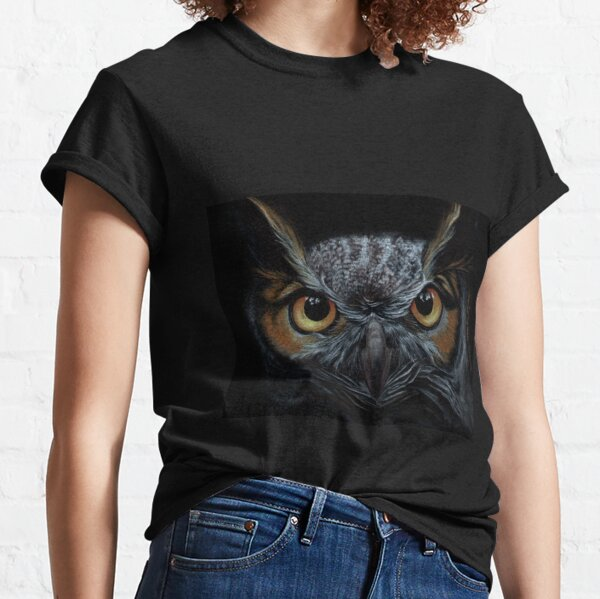 Great Horned Owl Portrait Classic T-Shirt