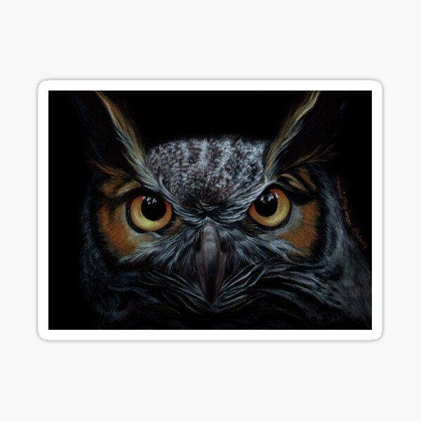 Great Horned Owl Portrait Sticker