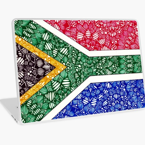 South African Flag Zentangle Laptop Skin