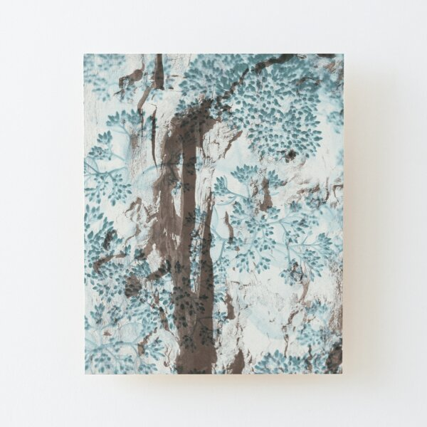 Fissured Wood Textile Wood Mounted Print