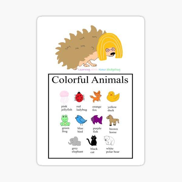 Nana Hedgehog Colorful Animals Sticker