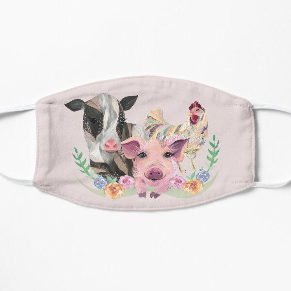 Farm Animal Rescue Love Flat Mask