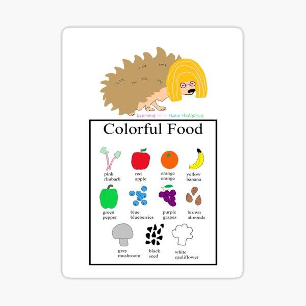 Nana Hedgehog Colorful Food Sticker