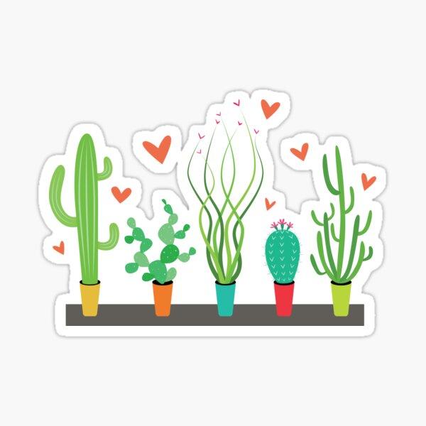 Cactus Succulent Desert Love Sticker