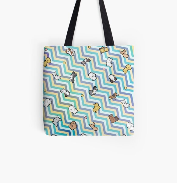 Puppy Party All Over Print Tote Bag