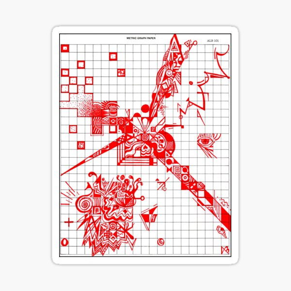 Graphic RED Doodle Sticker