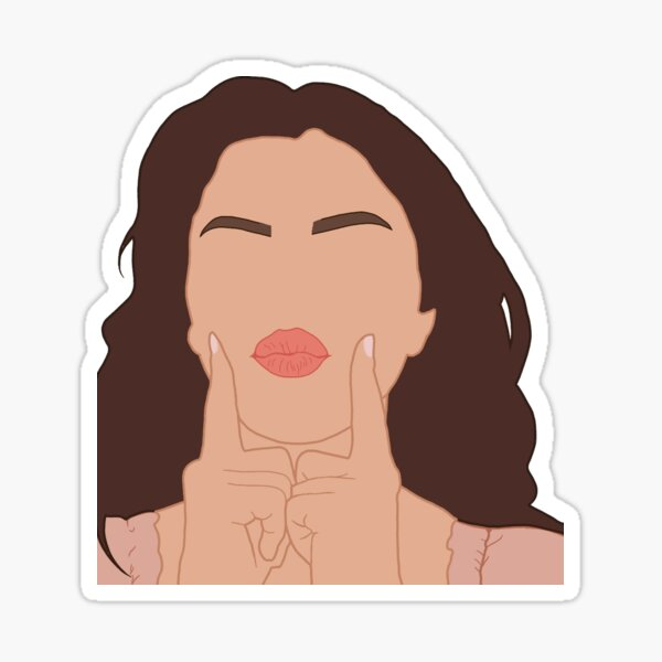 Selena Gomez cartoon drawing Sticker