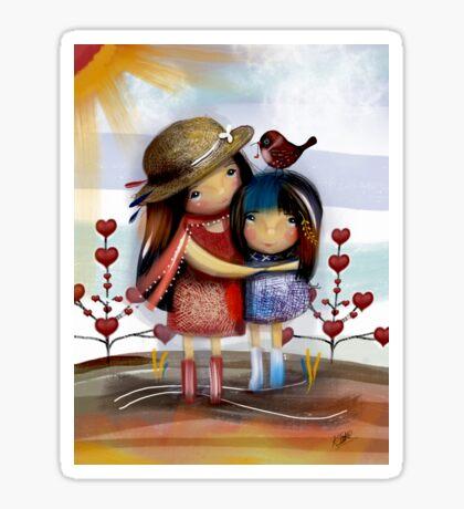 Love and Friendship Sticker