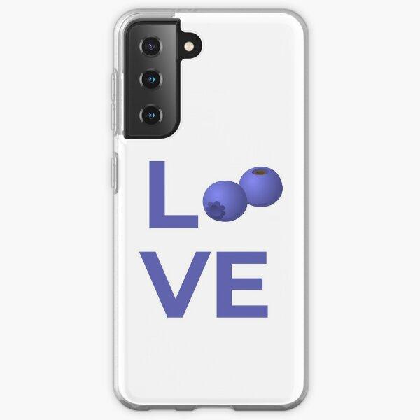Love Blueberries Fruit Samsung Galaxy Soft Case