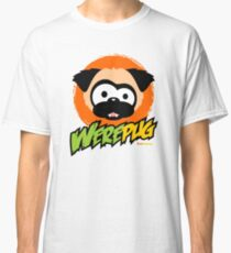 Tugg the WerePug - White (and Light) Apparel and Stickers Classic T-Shirt