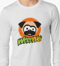 Tugg the WerePug - White (and Light) Apparel and Stickers Long Sleeve T-Shirt