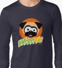 Tugg the WerePug - Dark Color Apparel Long Sleeve T-Shirt