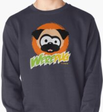 Tugg the WerePug - Dark Color Apparel Pullover