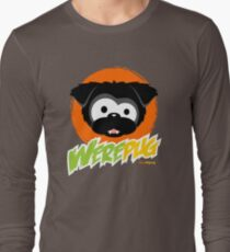 Black WerePug - Dark Apparel Long Sleeve T-Shirt